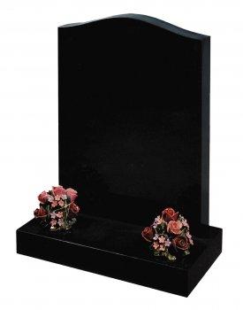 *Special Offer* 2'6 Black granite lawn memorial - Stock Memorials - Kenward and Son memorial